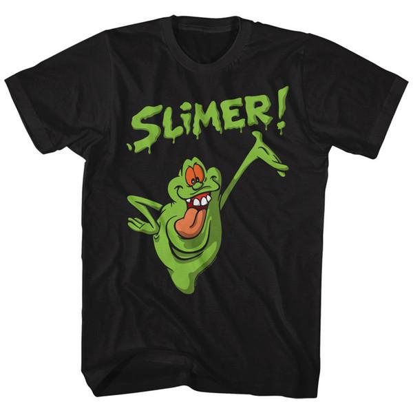 Ghostbusters - Gerçek Ghostbusters Slimer Lisanslı Yetişkin T Gömlek Yeni erkek Modası Kısa Kollu T-shirt Mens Satış