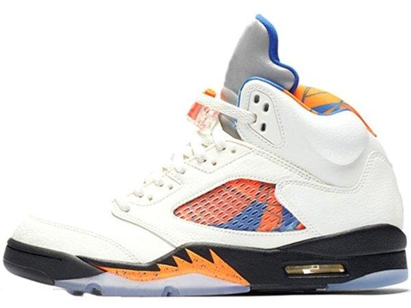 Mens Basketball Shoes 5 5s PSG X Paris Saint-Germain 75 Black White Red Blue Suede International Flight OG Black Metallic Sport Sneakers-wad