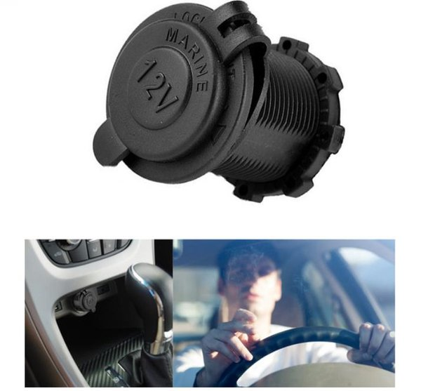 Auto Car Cigarette Lighter Socket 12V Waterproof Car Boat Motorcycle Cigarette Lighter Sockets Splitter Power Plug Outlet