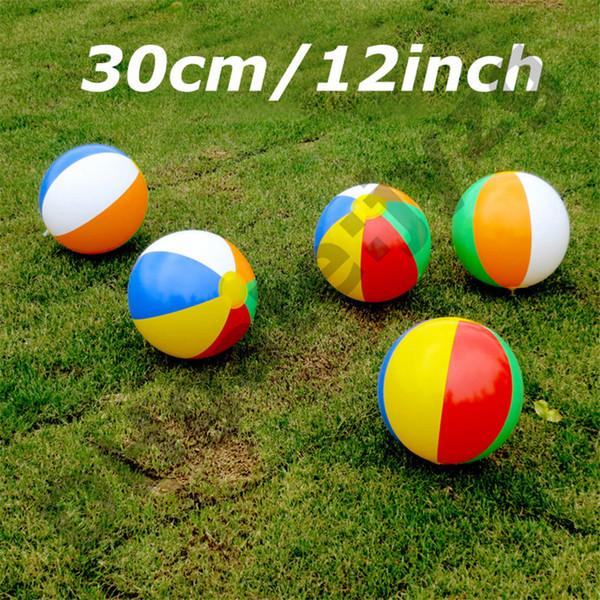 30 cm / 12 polegadas Inflável Praia Piscina Brinquedos de Água Bola de Verão Esporte Jogar Brinquedo Balão Ao Ar Livre Jogar Na Água Bola de Praia Presente Do Divertimento