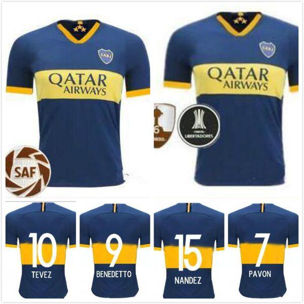 outlet store b525d 94fa5 2019 Thailand Quality Boca Juniors 19 20 Home Kit Soccer Jerseys Argentine  Super League 2019 2020 GAGO TEVEZ Carlitos Football Uniforms Shirts From ...