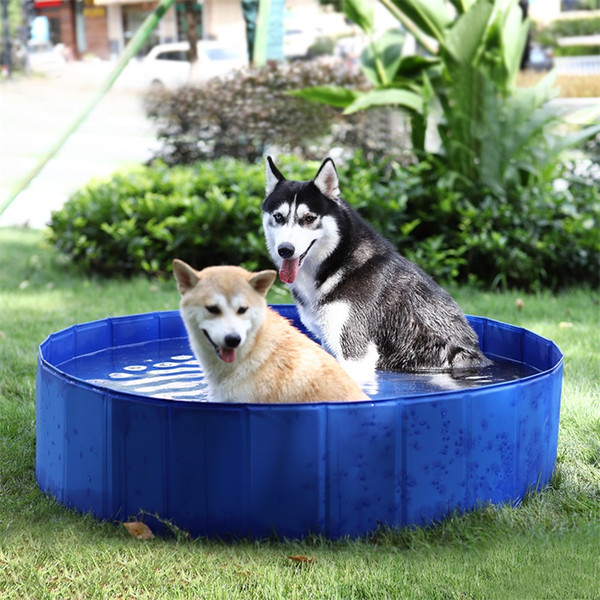 Foldable Pet Dog Swimming Pools PVC Dog Cat Summer Bathing Tub Large Space Collapsible Outdoor Washing Pond Waterproof House