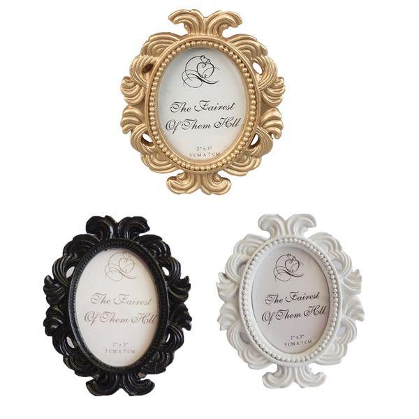 Retro dekorative Blumen-Foto-Rahmen-Hochzeits-Ausgangsdekor-Tischplattenbilderrahmen 3 Farbe