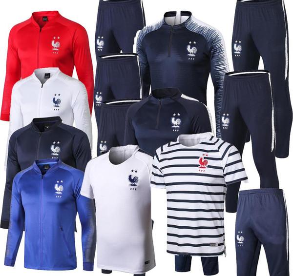 Trainingsanzug für Erwachsene, französischer Weltmeister 2018, 2 Sterne, Zwei Heim-GRIEZMANN 18 19 POGBA DEMBELE MBAPPE KANTE GIROUD Trainingsanzug für Männer von Matuidi