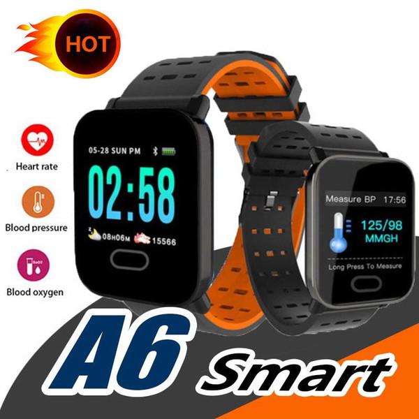 Nuovo orologio da polso A6 Smart Watch Touch Screen Smartwatch Phone con cardiofrequenzimetro Calorie da corsa per sport all'aria aperta