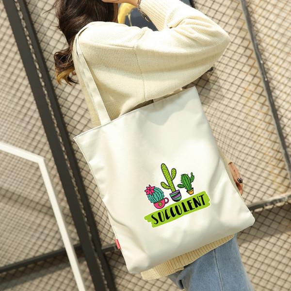 Cheap 2018 Casual Women Large Capacity Tote Canvas Shoulder Bag Shopping Bag Casual Tote Feminina