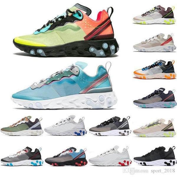 Element 87 55 Undercover Hommes Femmes Chaussures de course Vert Noir Designer Sneakers Sports Hommes Presto Baskets Coureur Chausseures