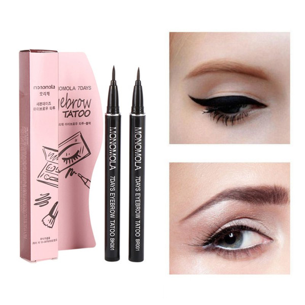 Profession Women Makeup Product Waterproof Brown 7 Days Eye Brow Eyebrow Tattoo Pen Liner Long Lasting Makeup Women Gifts Hi