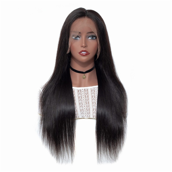 Full Lace Silk Top Human Hair Wigs With Baby Hair Silky Straight Pre Plucked Hairline Glueless Silk Base Lace Front Wig For Women