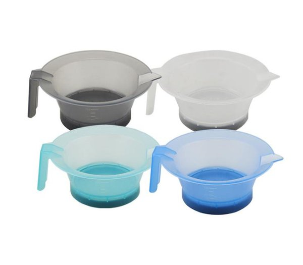 Hair Color Mixing Bowls Anti-slip Bowl With Handle Mixing Suction Cup Coloring Styling Tools Dyeing Coloring Pot 2019