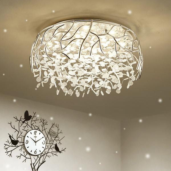 Großhandel LED Modern Crystal Deckenleuchten Nordic Wohnzimmer Leuchten  Neuheit Schlafzimmer Deckenleuchten Eisen Glas Deckenbeleuchtung Von  Huxiaoan, ...