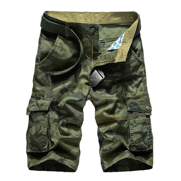 Camuflagem Camo Cargo Shorts Homens 2019 Novos Homens Shorts Casuais Masculino Solto Shorts de Trabalho Homem Militar Calças Curtas Plus Size 29-44