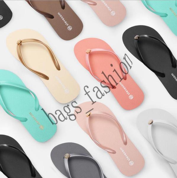 Zapatillas de verano antideslizantes para mujer Zapatillas de playa planas ocasionales con chanclas Ropa de moda Zapatos de playa con fondo de goma Envío gratis