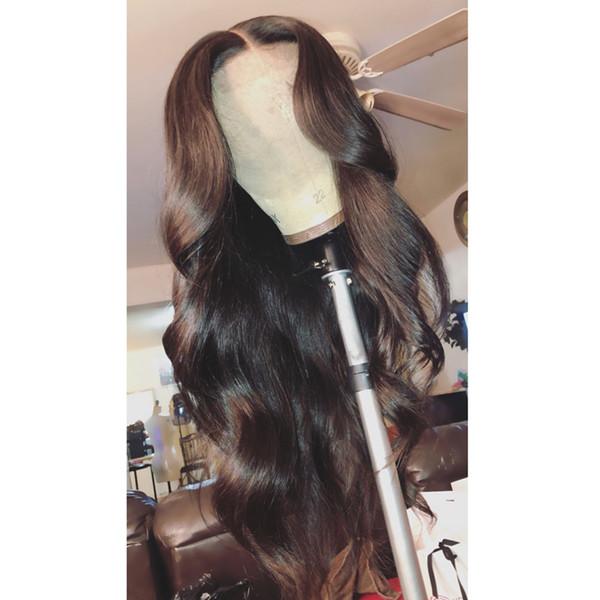 Glueless Full Lace Wig 100% Indien Perruque de Cheveux Humains Body Wave Naturel Noir Couleur Bella Cheveux Livraison Gratuite Perruques Cheveux