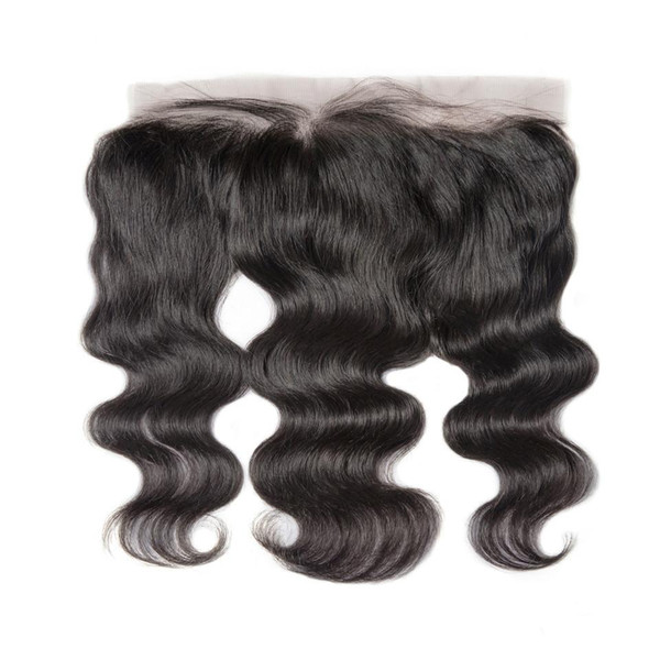 best selling Lace Frontal Closure Brazilian Body Wave Remy Hair 13x4 Pre Plucked Hairline With Baby Hair HD Transparent Lace
