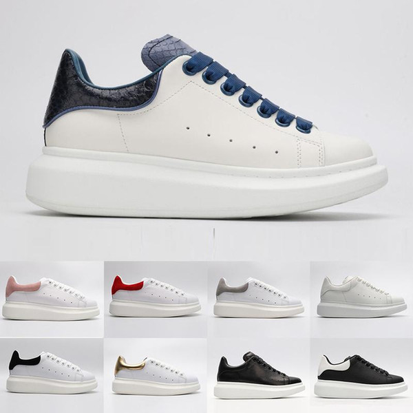 Brand Quality High Fashion Designer Women Men White Casual Shoes Red Womens Mens Low Cut Leather Flat Designers Outdoor Shoes 36-44