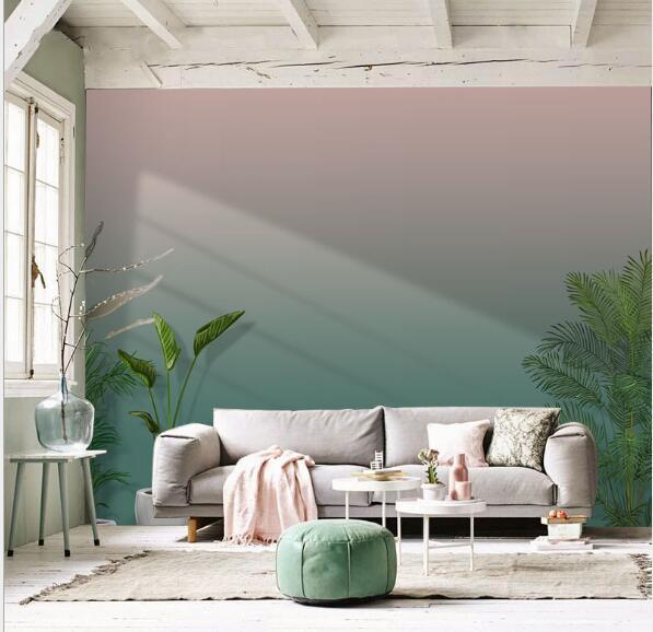 Pink Green Gradient Nordic Style Wallpaper Pattern Cement Wall Paper Living  Room Sofa Bedroom TV Background Wall Paper Rose Wallpaper Santabanta ...