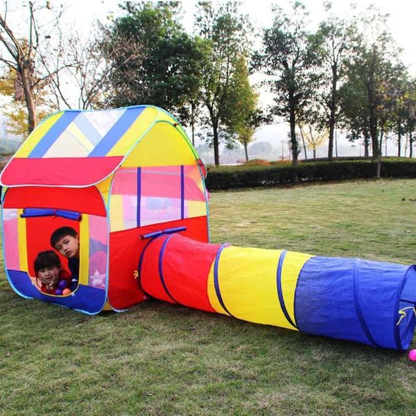 Tunnel Tent Kids Indoor Kids Ball Pool Play House Tent Children Folding Outdoor Crawling Game Tent For Kids Gift