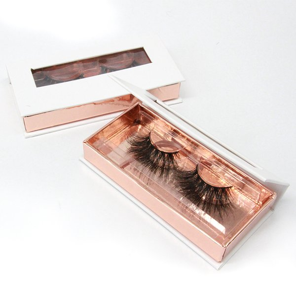 25 mm New 1 pair 3D mink eyelashes Private Label 100% real mink fur Handmade False eyelash crossing lashes individual strip thick lash