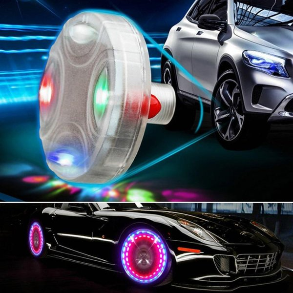 Car-Styling Car Accessories Auto Wheel Hub Tire Solar Color LED Decorative Light Solar Energy Flash For All Universal Cars MMA1350