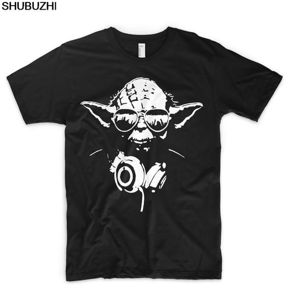Dj Yoda Jedi T Shirt Ibiza Party Festival Hip Hop Rap Techno Disco New Fashion Men Tops Cool O Neck T-Shirt