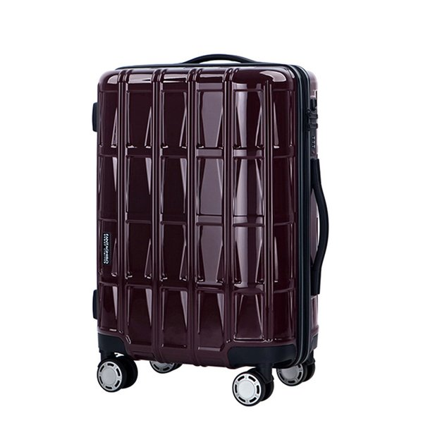Fashion rolling Luggage bag PC Travel Suitcase wheel for Women Men Trolley Case carry on TSA Customs Code lock box