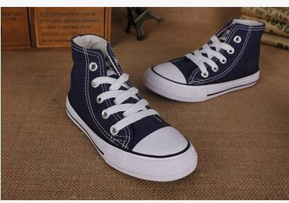 15Color classic style All Size 24-34 Low high Style high Style Canvas Shoe Sneakers kids boys girls casual Shoes Casual Shoes