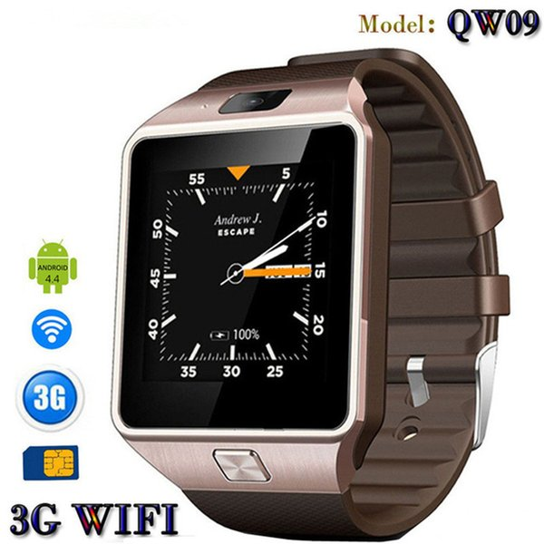 QW09 Smart watch DZ09 Android Upgrade Bluetooth Mobile phone Smartwatch Support Wifi 3G SIM Card Play Store Download APP