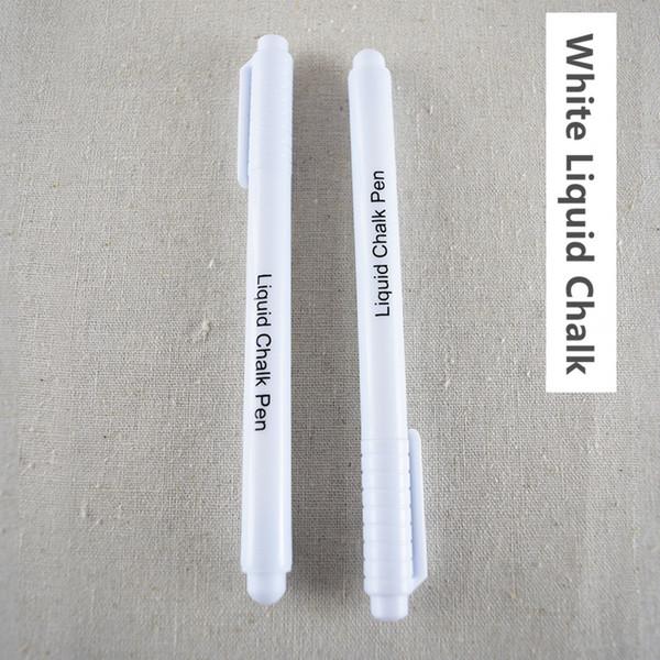 best selling White Liquid Chalk Pen Marker For Glass Windows Chalkboard Blackboard Drawing Mark Pen Stationery 10pcs