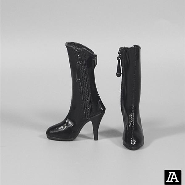 """1//6 Donna in Pelle Lungo//Breve Stivali Tacchi Alti Scarpe per 12/"""" Donna Action Figure"""