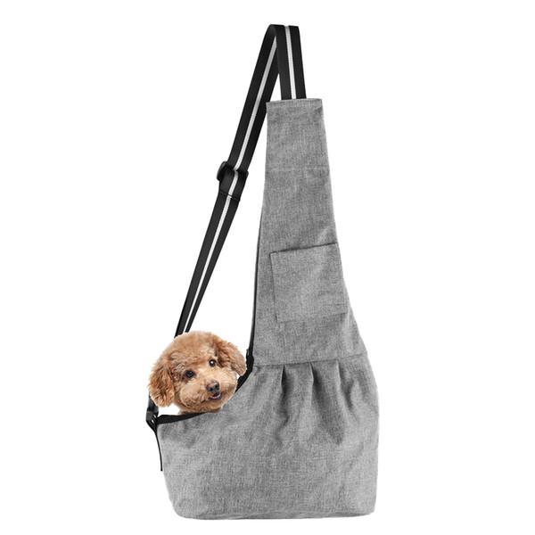 Borsa per cani a mani libere in tessuto composito Borsa per cani in tessuto per animali domestici Borsa a tracolla per animali da compagnia Viaggio a mani libere 0.25-5kg