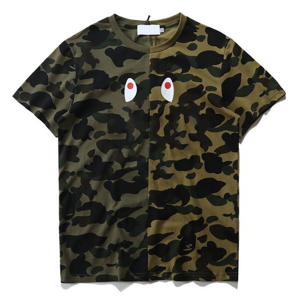 20SS BP Hommes T-shirt Designer Fashion Shark Bouche d'impression T-shirts Marque Trendy Hiphop Streetwear Nouveau été T-shirt Taille asiatique S-2XL.T20