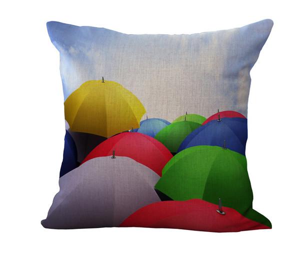 Arc-en-motif géométrique Coussin Housse de coussin Housse en lin coton Throw Pillowcases canapé-lit maison de voiture coussin décoratif couvre Drop Ship