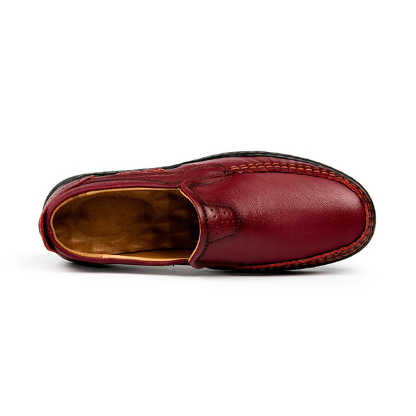 Hot Sale- Woman handmade shoes 100% genuine leather shoes casual shoes soft cowhide female flats