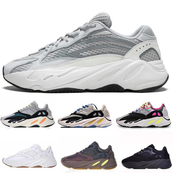 700 Wave Runner Mauve Inertia Кроссовки С Коробкой Kanye West Дизайнерская Обувь Мужчины Женщины 700