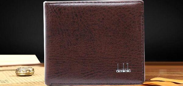 New Vintage Court portefeuille pour hommes en cuir d'embrayage Portefeuilles Porte-monnaie Première couche Bit multi-cartes Porte-Rétro carte