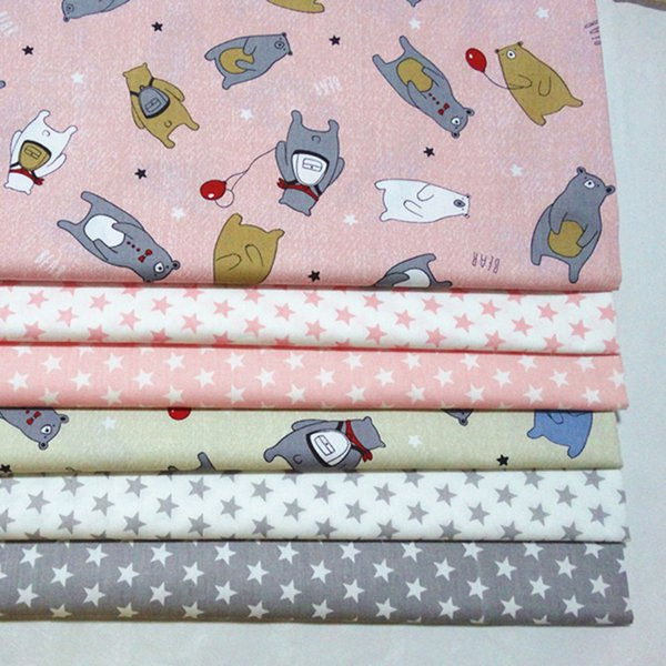 Bear and star style 100%cotton fabric for baby cloth 10yards/lot tomo1840