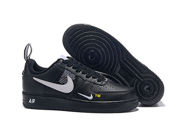 best selling Classic 1 Utility Black White Dunk Men Forces Women Casual Shoes one Sports Skateboarding Low Cut Air Trainers Designer Sneakers Size 36-45