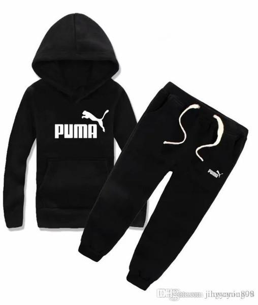 PM Brands Kids Sets 100-140cm 아동용 후드 티 및 바지 2 개 세트 어린이 스포츠 세트 Baby Boys Girls Winter Coats Pants Sets