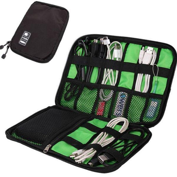 Saco De Armazenamento De cabo Portátil Eletrônico Organizador Gadget electronic Travel bag USB Fone De Ouvido Caso organizador digital