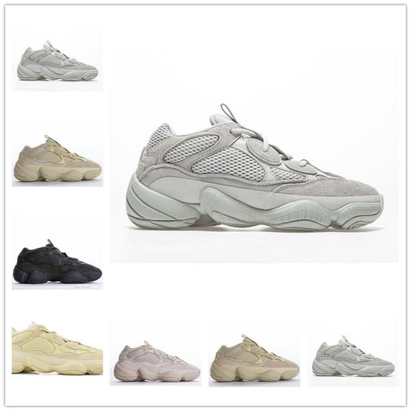 Scarpe da corsa Salt Desert Rat 500 Giallo Nero Blush 2019 Scarpe da lavoro Scarpe da ginnastica Uomo Sneakers da donna Pelle bovina 3M Reflective 36-45