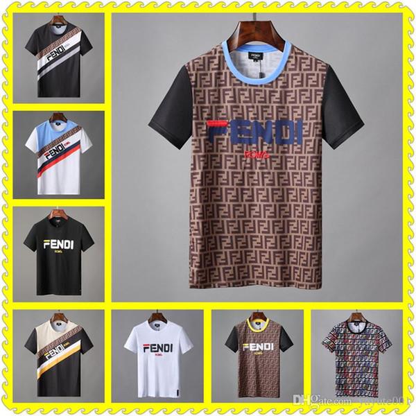 CHEAP Men Summer Mens Designer T-Shirt European Style Velvet T-shirt Round Neck Cotton Short Sleeves Male T-shirts 127