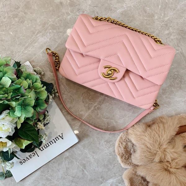Yeni lady tasarımcı crossbody çanta marka tasarımcısı lady zincir çanta renkli omuz çantası mükemmel kalite çanta perakende ve toptan