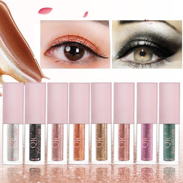 QIC Liquid Glitter Eyeshadow Waterproof Shimmer Eye Shadow Pencil Shiny Makeup Pigment Eyeshadow Pallete Beauty Tools 8 Colors