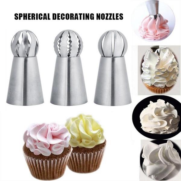 Herramientas de decoración de la torta de la antorcha de acero inoxidable boquillas herramientas para hornear crema de decoración de pasteles en casa flores