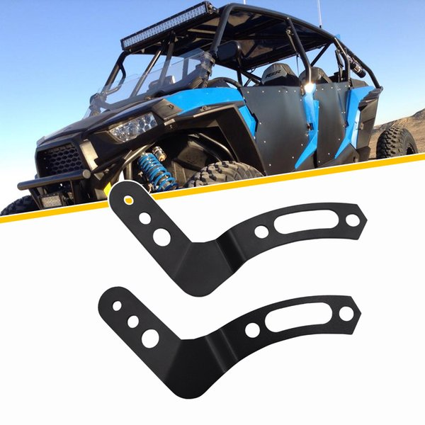 30 inch led light bar upper roll cage mount brackets fit polaris rzr 900 1000 800