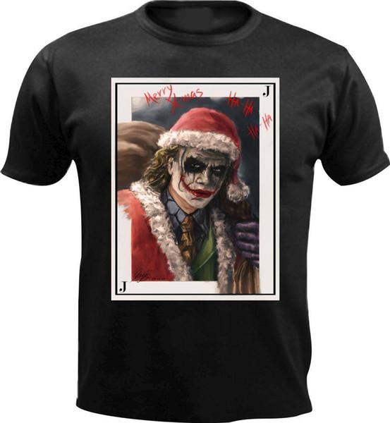 Santa Joker Spielkarte Weihnachten Männer T-Shirt Geschenk Weihnachtsgeschenk Lustiges Geschenk 3XL Baumwolle Männer T-Shirts Klassisch Top T-Shirt