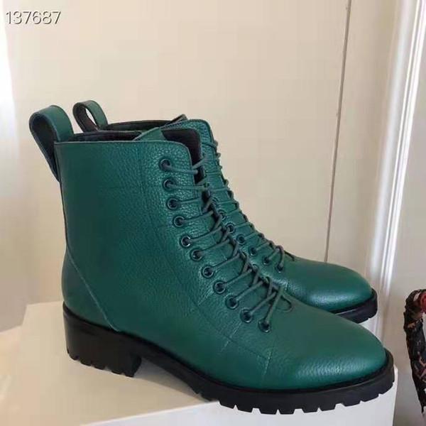 DHL envío gratis material de piel de vaca botas cortas de cordones de calidad superior Zapatos de mujer más populares de la marca