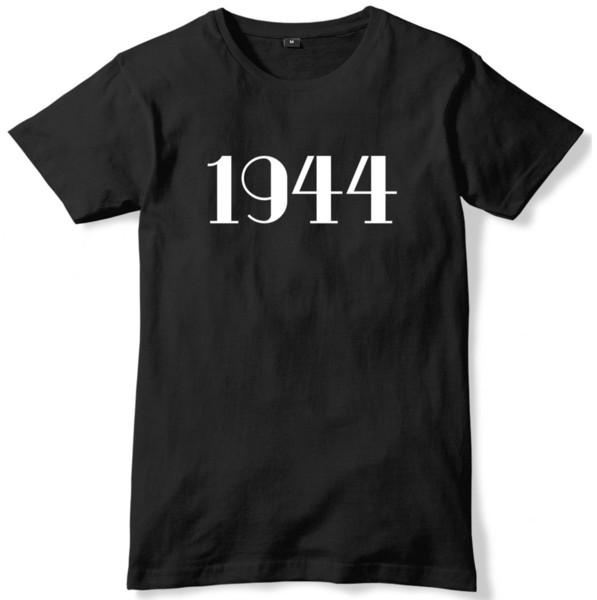 Maglietta unisex di anno di anniversario di compleanno degli anni 1944 Maglietta unisex divertente di trasporto libero Maglietta casuale unisex della maglietta unisex
