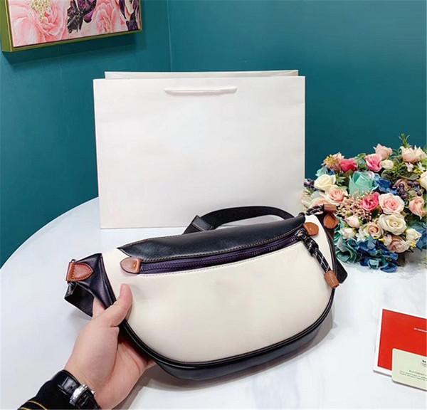 Women Semicircle Straw Bag Girl Waist Fanny Pack Handbags Summer Beach Chest Bag